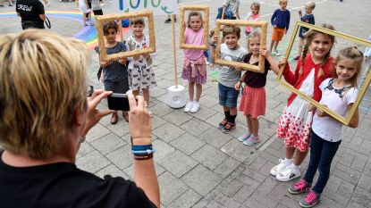 Leerlingen uit de bol tijdens FestiOpstal