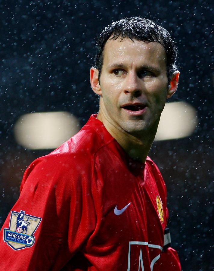 Ryan Giggs in 2007 als speler van Manchester United.