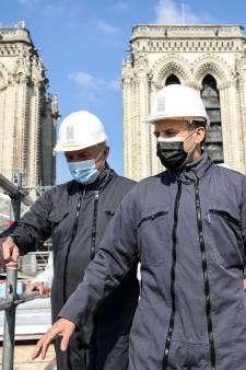 Emmanuel Macron se rend sur le toit de Notre-Dame, deux ans après l'incendie de la cathédrale