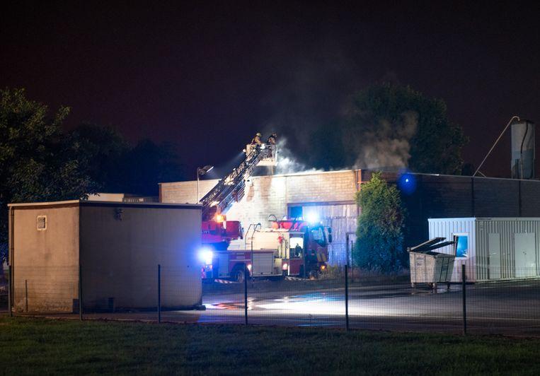 Een uur later moest de brandweer naar Broeierij Claeys.