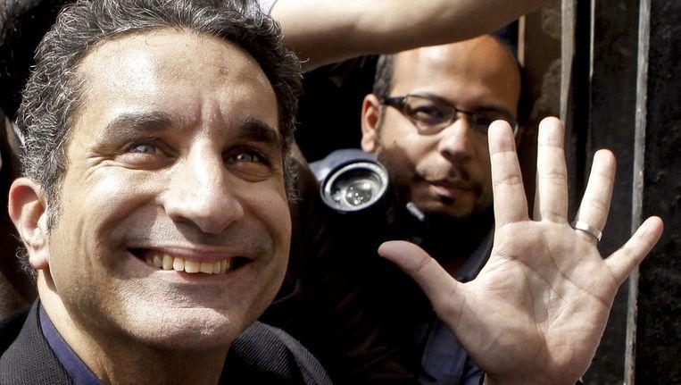 Bassem Youssef in maart van dit jaar. Beeld AP