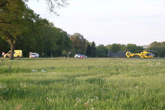 De traumahelikopter moest ter plaatse komen