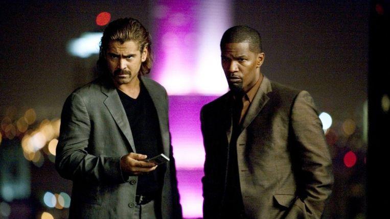 Colin Farrell en Jamie Foxx in 'Miami Vice' van Michael Mann. Beeld
