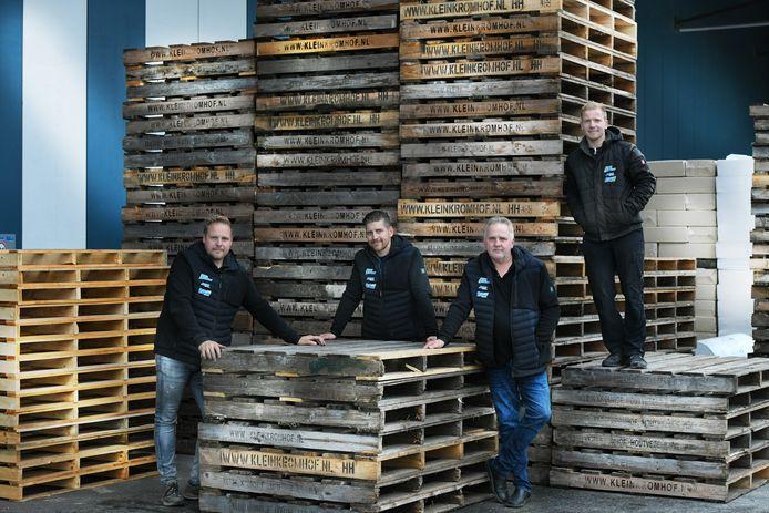Jeroen, Henri, Gerhard en Ceriel Kromhof.