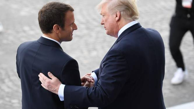 "Macron hoopvol na ontmoeting: ""Trump draait uitstap uit klimaatakkoord mogelijk terug"""