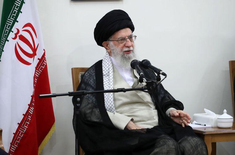 De Iraanse hoogste geestelijke leider Ali Khamenei.