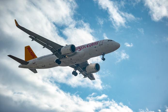 Een toestel van de Turkse prijsvechter Pegasus Airlines.