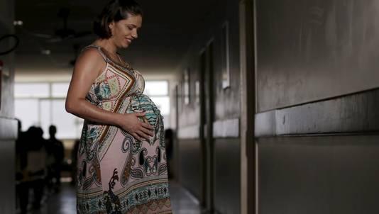 Een zwangere vrouw in het Braziliaanse Recife
