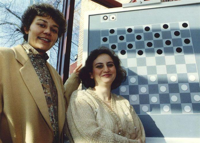 Karen van Lith (l) en Nina Jankovskaja in 1992.