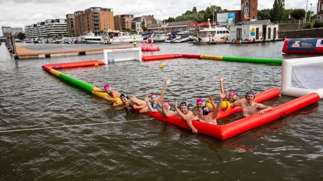 IN BEELD. Tweede 'beachwaterpolo'-toernooi ging door in vernieuwde Hasseltse kanaalkom