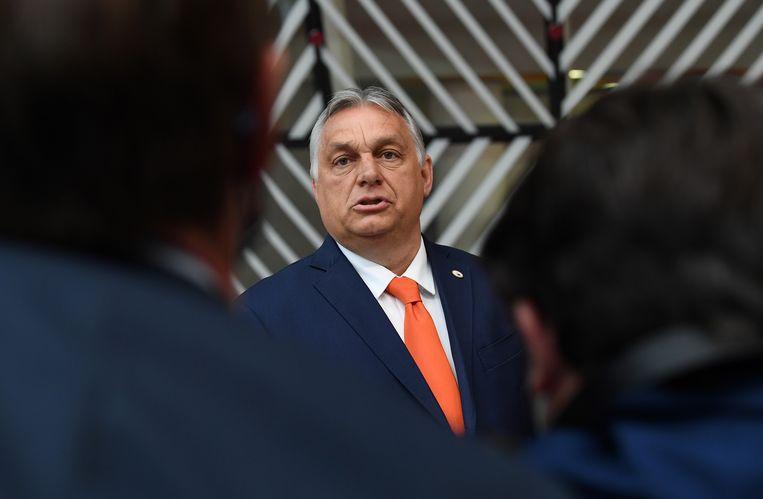 De Hongaarse premier Viktor Orbán. Beeld EPA