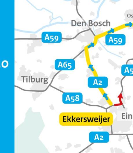 A50 Oss - Eindhoven in beide richtingen dicht na ongeluk bij Veghel
