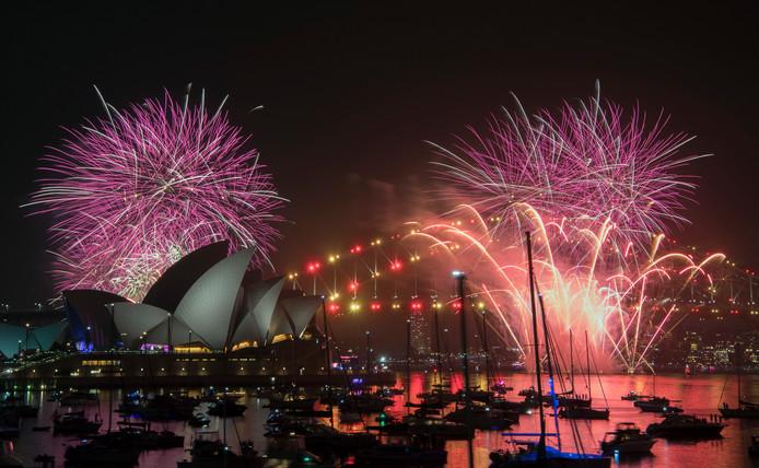 Vuurwerk in Sydney.