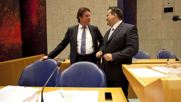 Staatssecretaris Weekers en minister De Jager. Beeld null