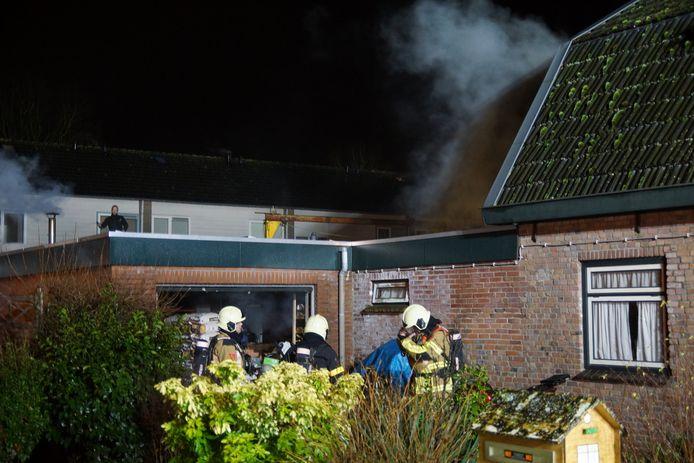Veel schade bij brand in Kaatsheuvel.