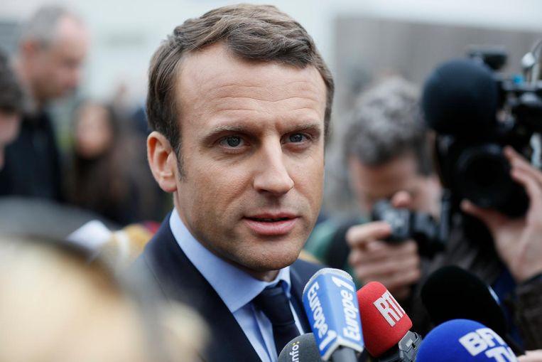 Emmanuel Macron Beeld epa