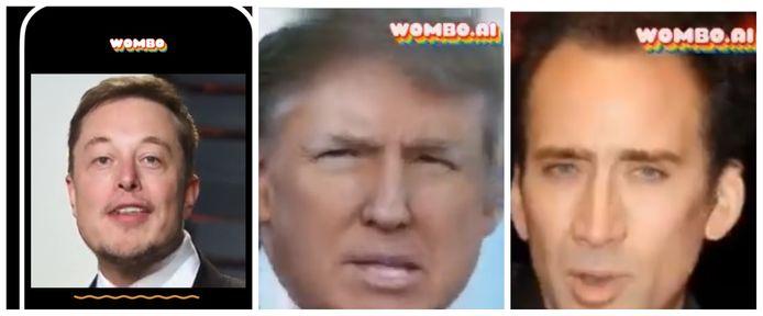 Elon Musk, Donald Trump et Nicolas Cage sont passés par l'application Wombo.