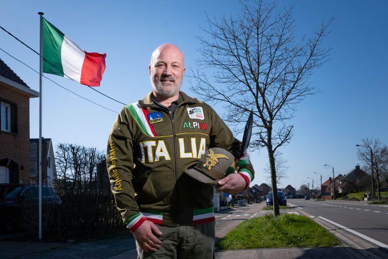Patrick De Luca uit Lippelo heeft Italiaanse roots en organiseert de actie '5 voor Italia'