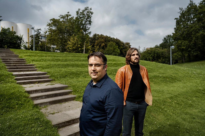 Bram Spruyt (l.) en Filip Van Droogenbroeck. Beeld Eric de Mildt