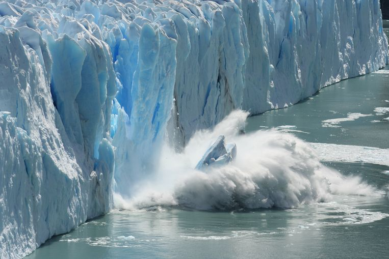 Melting glaciers are a clear sign of climat change and global warming. Beeld Thinkstock