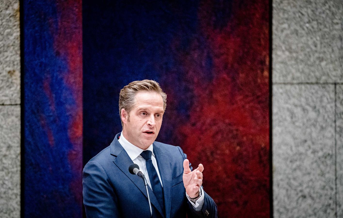 Demissionair Minister Hugo de Jonge van Volksgezondheid, Welzijn en Sport (CDA).