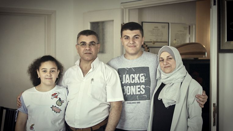 De familie Al-Hasbani in 2020 Beeld VRT