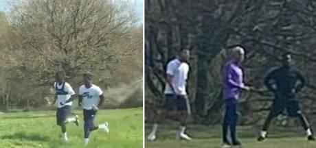 Mourinho et plusieurs Spurs s'entraînent dans un parc en plein confinement