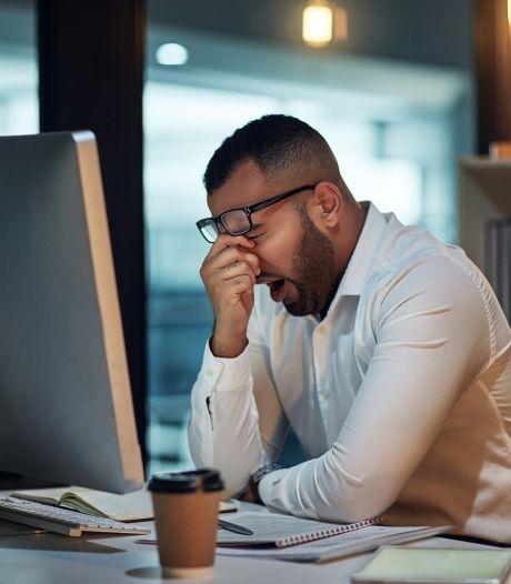De hele werkdag knallen, 's avonds futloos op de bank:  'Gaat een keer mis'