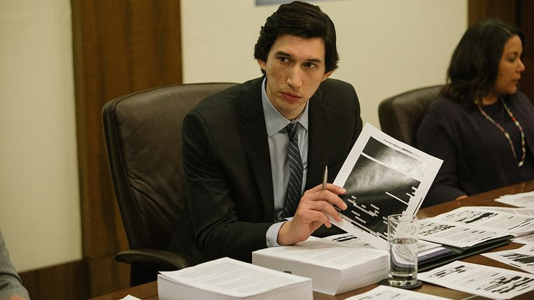Adam Driver als Senaatsonderzoeker Daniel J. Jones in 'The Report'. Beeld Atsushi Nishijima