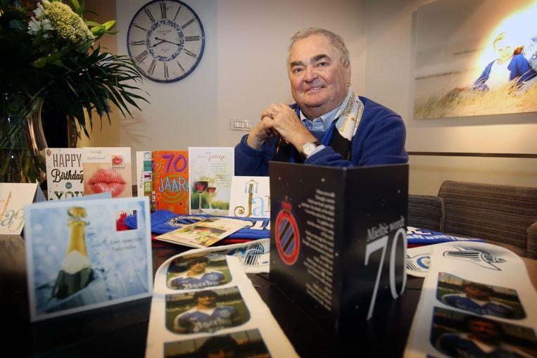 Voor zijn 70ste verjaardag kreeg 'Mieltje' nog een kaartje van zijn favoriete club.