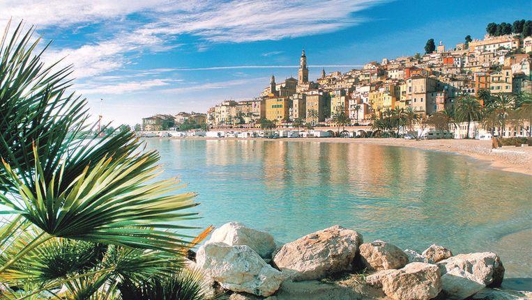 Menton is de warmste stad van de Côte d'Azur.