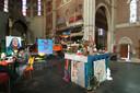 Krakers in de Heilig Hartkerk in Breda.