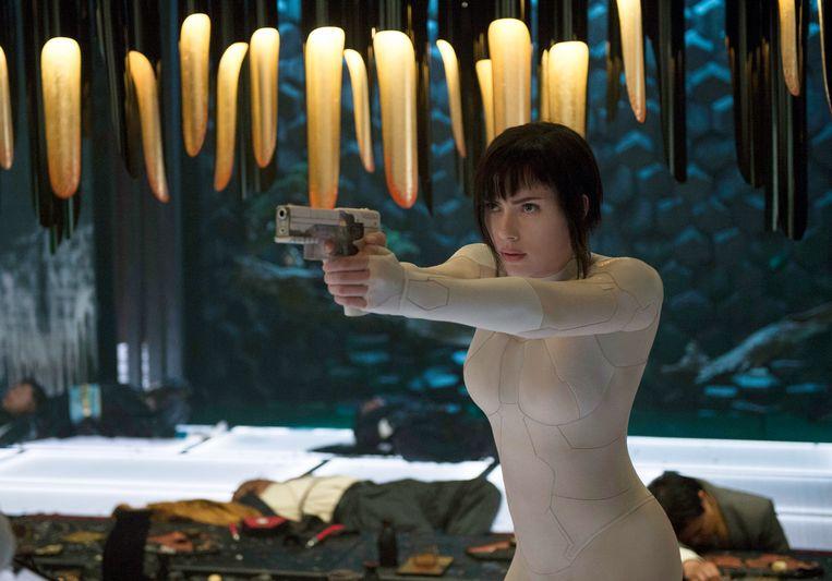 Scarlett Johansson in 'Ghost in the Shell'. Beeld AP