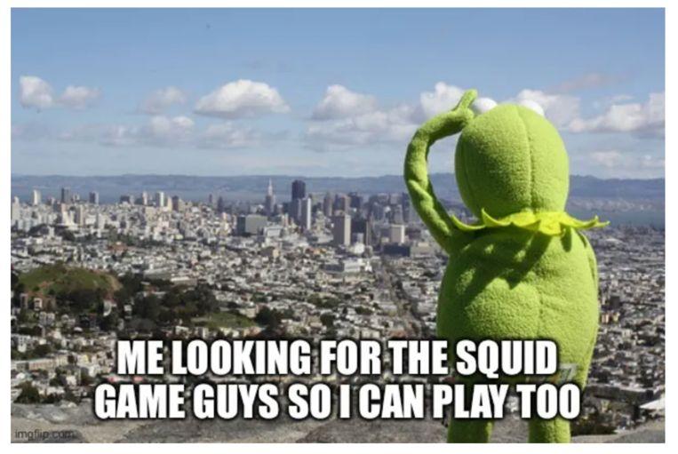 Squid Game meme Beeld web