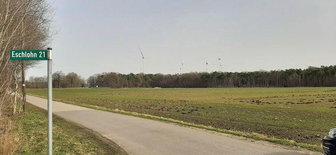 In de buurtschap Eschlohn worden windmolens vervangen door nieuwe, veel hogere exemplaren.