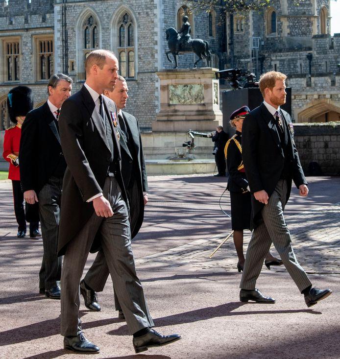 Harry en William liepen niet naast elkaar.