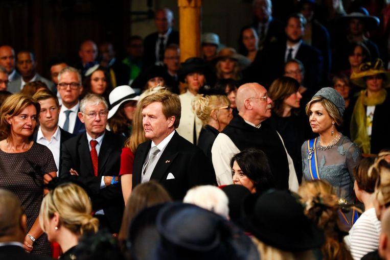 Koning Willem-Alexander en koningin Maxima komen aan in de Ridderzaal Beeld anp