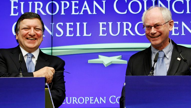 Jose Manuel Barroso en Herman Van Rompuy.