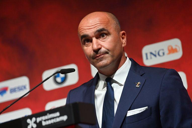 Bondscoach Roberto Martínez maakte de namen bekend voor de volgende wedstrijden in de WK-kwalificatiecampagne.  Beeld Photo News