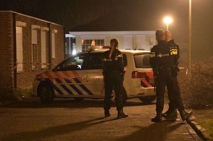 De politie deed zaterdagnacht onderzoek naar de schietpartij in Eindhoven.