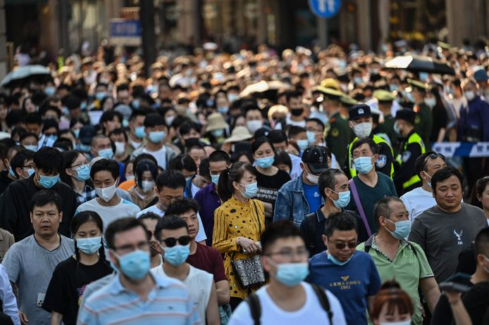 De Dag van de Arbeid in Shanghai.
