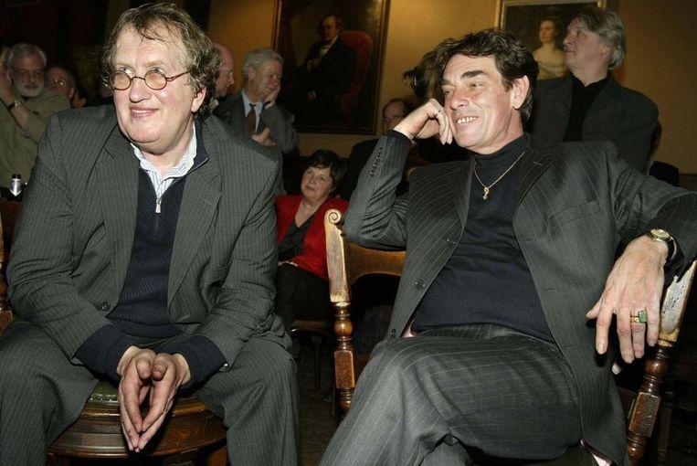 Met zijn partner Charles Hofman bij de viering van zijn 60ste verjaardag in Arti et Amicitiae, Amsterdam. Beeld ANP