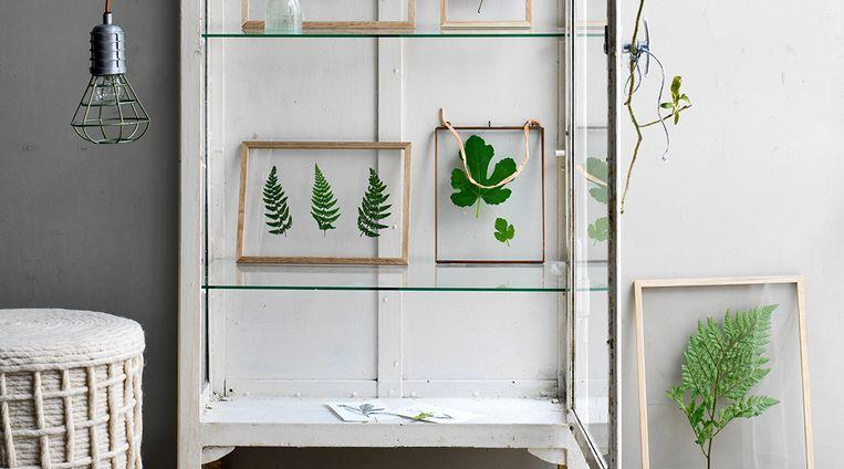 Weekend bezigheid: groene kunstwerkjes achter glas