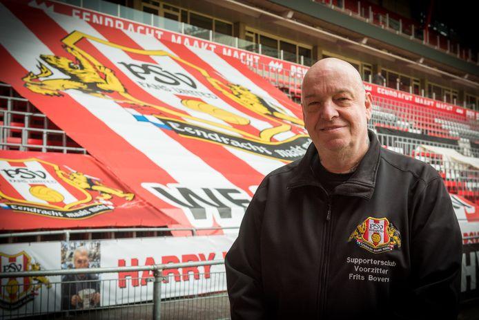 Frits Bovers, al twintig jaar de enige en eerste voorzitter van PSV Fans United.
