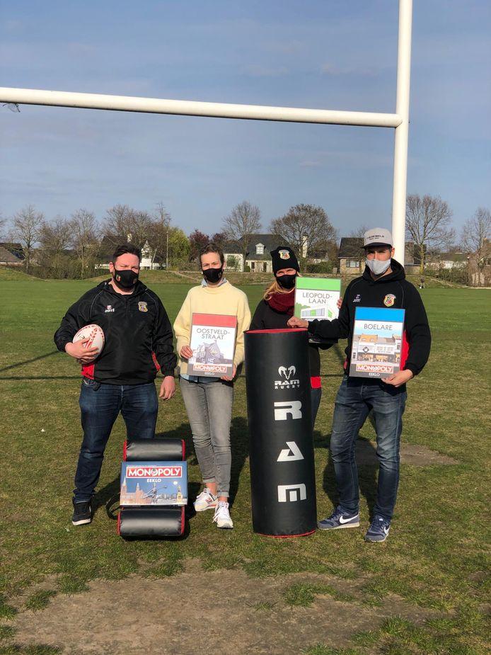 Bij Rugbyclub Meetjesland zijn ze trots op hun plekje op het Monopolybord.