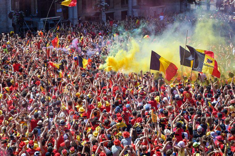 'Het rode festival in Brussel was er over.' Beeld Joel Hoylaerts / Photonews