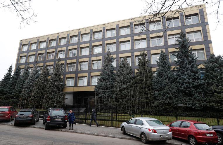 Een kantoor van het Oekraïense energiebedrijf Burisma in Kiev. Beeld REUTERS