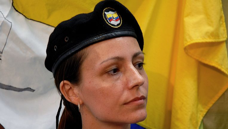 Tanja Nijmeijer: 'Ik ben bij de vredesbesprekingen omdat ik tien jaar bij de Farc zit en Engels spreek'. Beeld AP