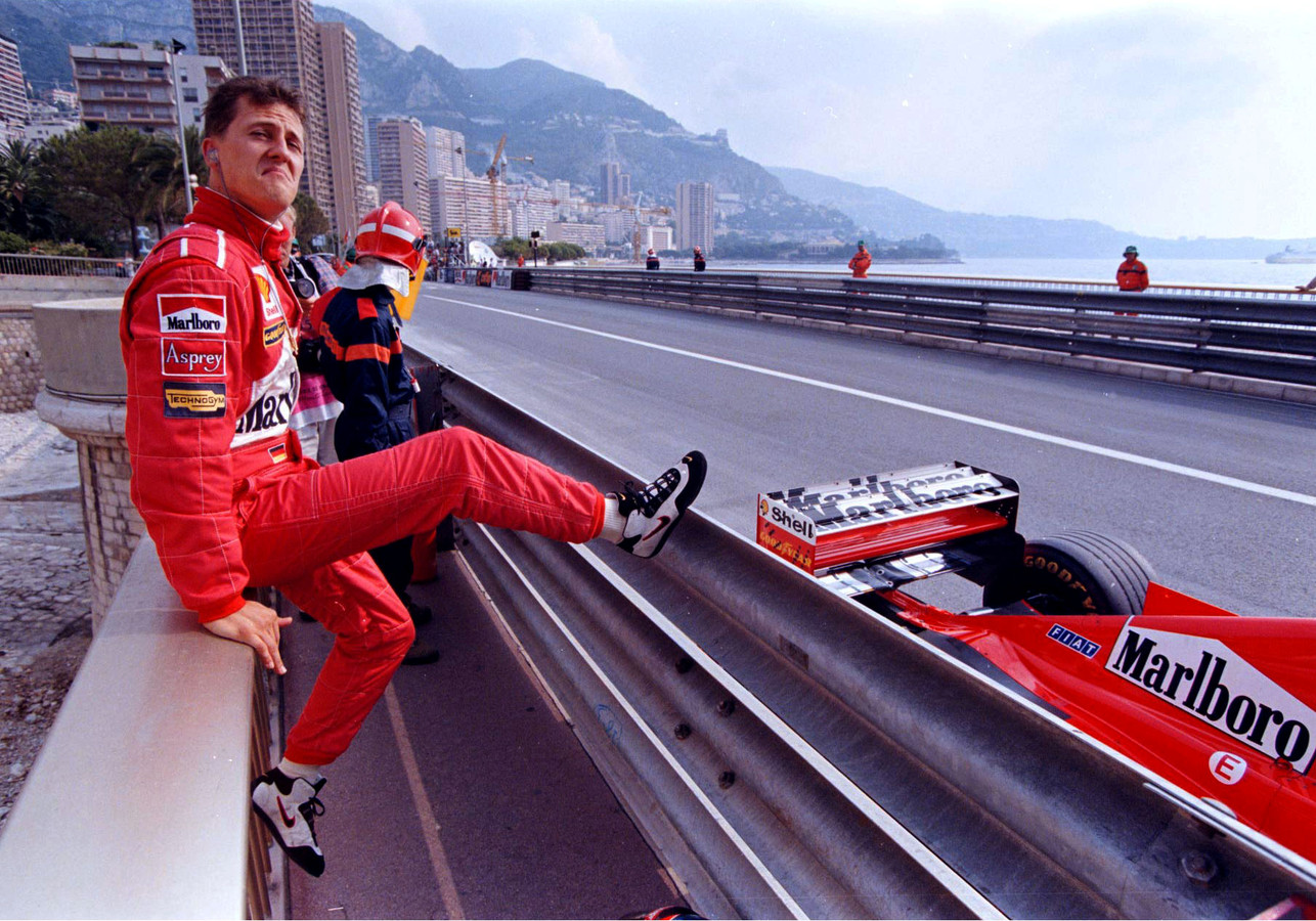 Michael Schumacher in 1998 in Monaco