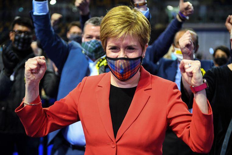 De Schotse premier Nicola Sturgeon. Beeld Andy Buchanan / AFP